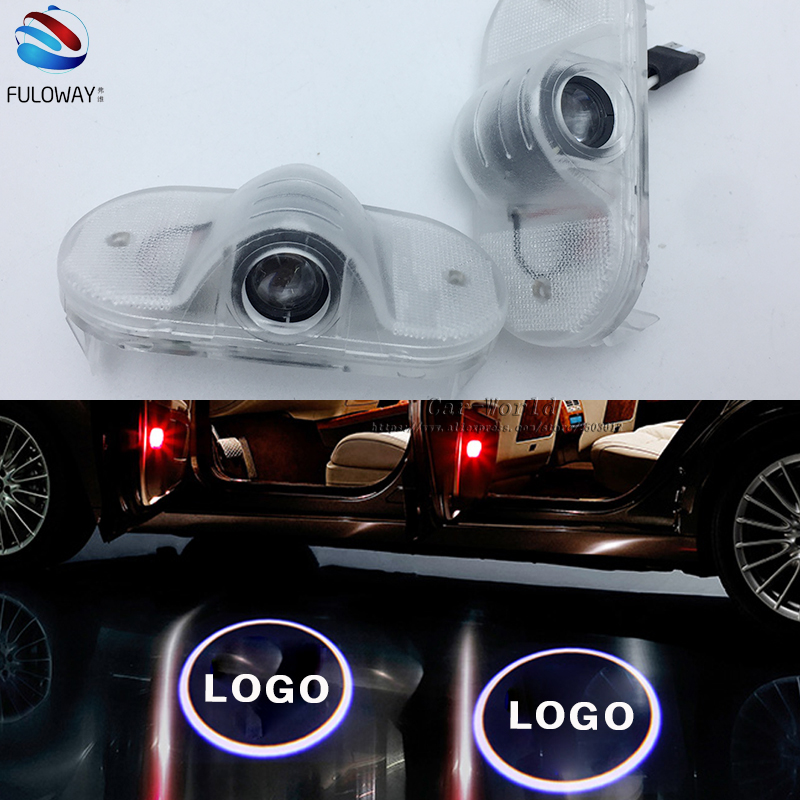 For Skoda Octavia LED 3W Welcome Car Door Logo Lights Projector Laser Ghost 3D Shadow Accessories Original Door Light Replace for most cars 2pcs led car door light courtesy logo laser projector punching ghost shadow lamp lights for cadillac logo