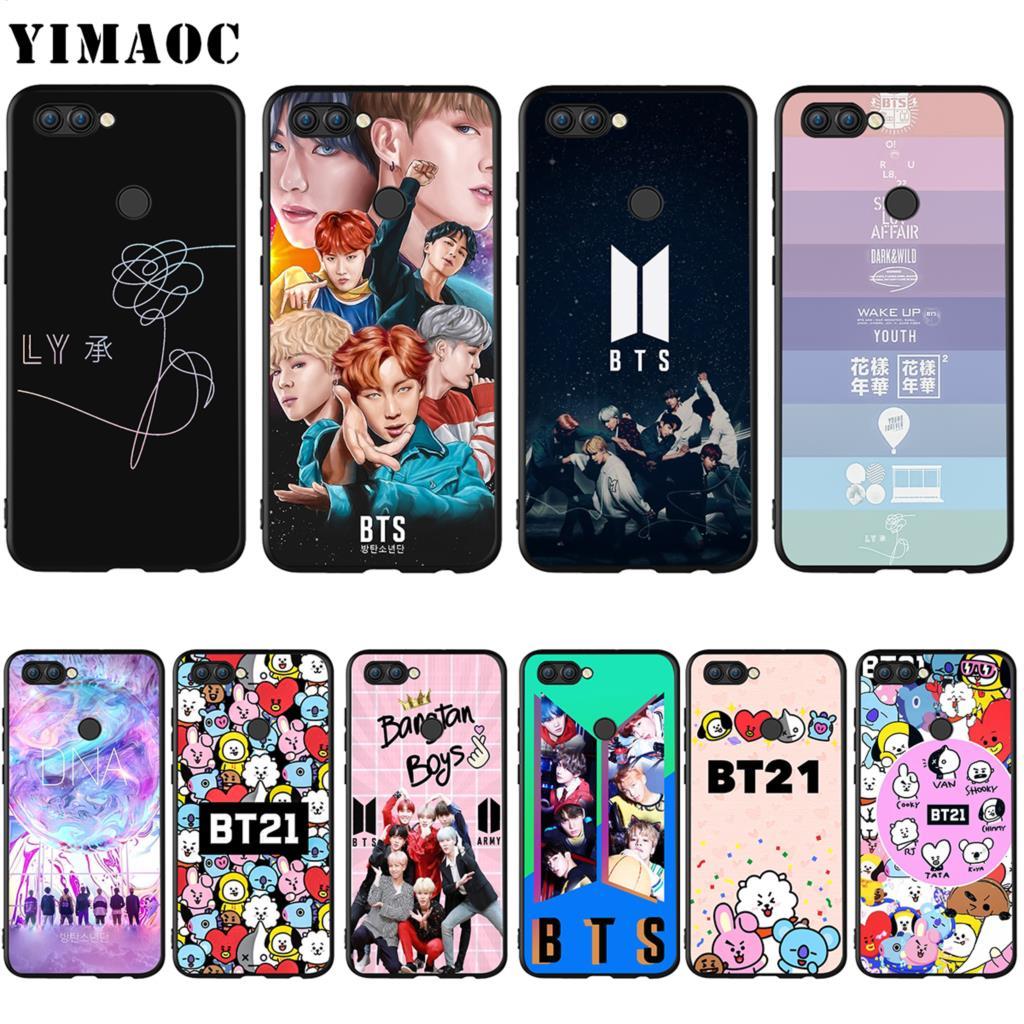 YIMAOC BTS BT21 Bangtan Boys Silicone Case for Huawei Honor Mate Y6 6A 8 9 10 P8 P9 P10 P20 P Smart Lite Pro 2017