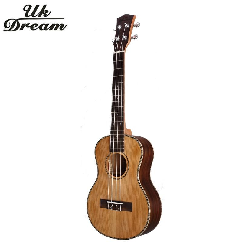 18 Tasti di Legno Ukulele 26 Pollice Chitarra Strumento Musicale 4 Corde della Chitarra Guitarra mini Chitarra Palissandro Ukulele UK Sogno UT-63E