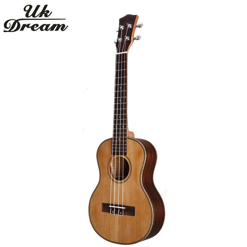 18 frettes En Bois Ukulélé 26 Pouces Guitare Instrument de musique 4 Cordes Guitare Guitarra mini Palissandre guitare ukulélé ROYAUME-UNI Rêve UT-63E