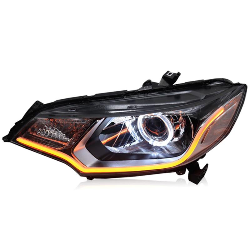 Bi-Xenon Headlights For Sanvi Car Headlight Assembly Bi-Xenon Projector Lens For Honda Fit 2014 Xenon Projector Lens Light sanvi headlights assembly for k ia k5 q5 projector lens led angel eye and day running light
