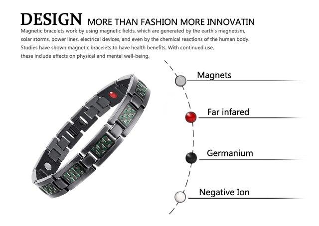 Модные мужские ювелирные изделия welmag титановые браслеты магнитные