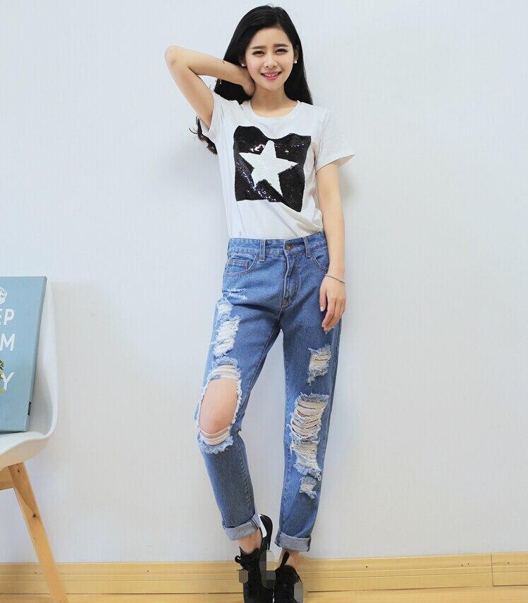 Aliexpress.com : Buy 26 30 Hot sale Women's ripped jeans Fashion ...