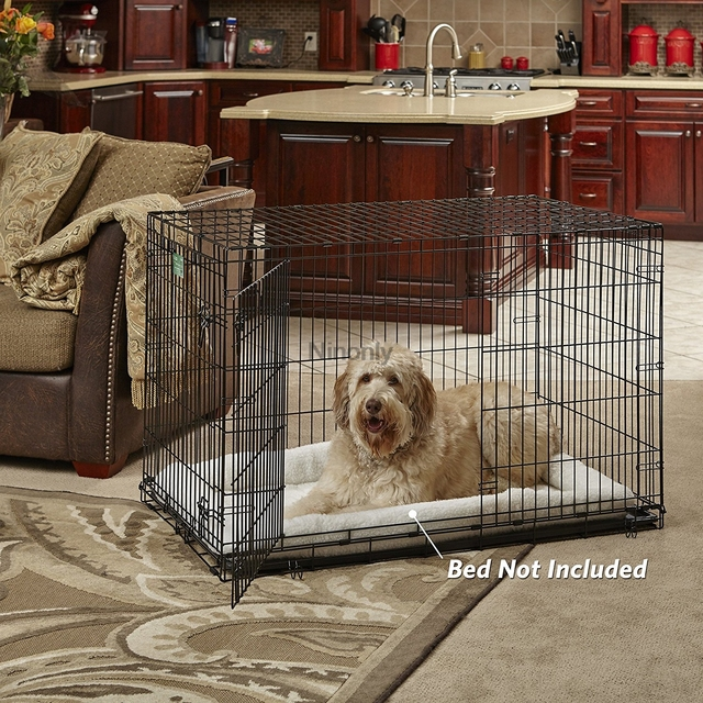 Big Dog Crate Metal Carry Case with Handle Collapsible Wire Pet Dog Cage Easy to Install Quality Insurance Door Safe Dog House
