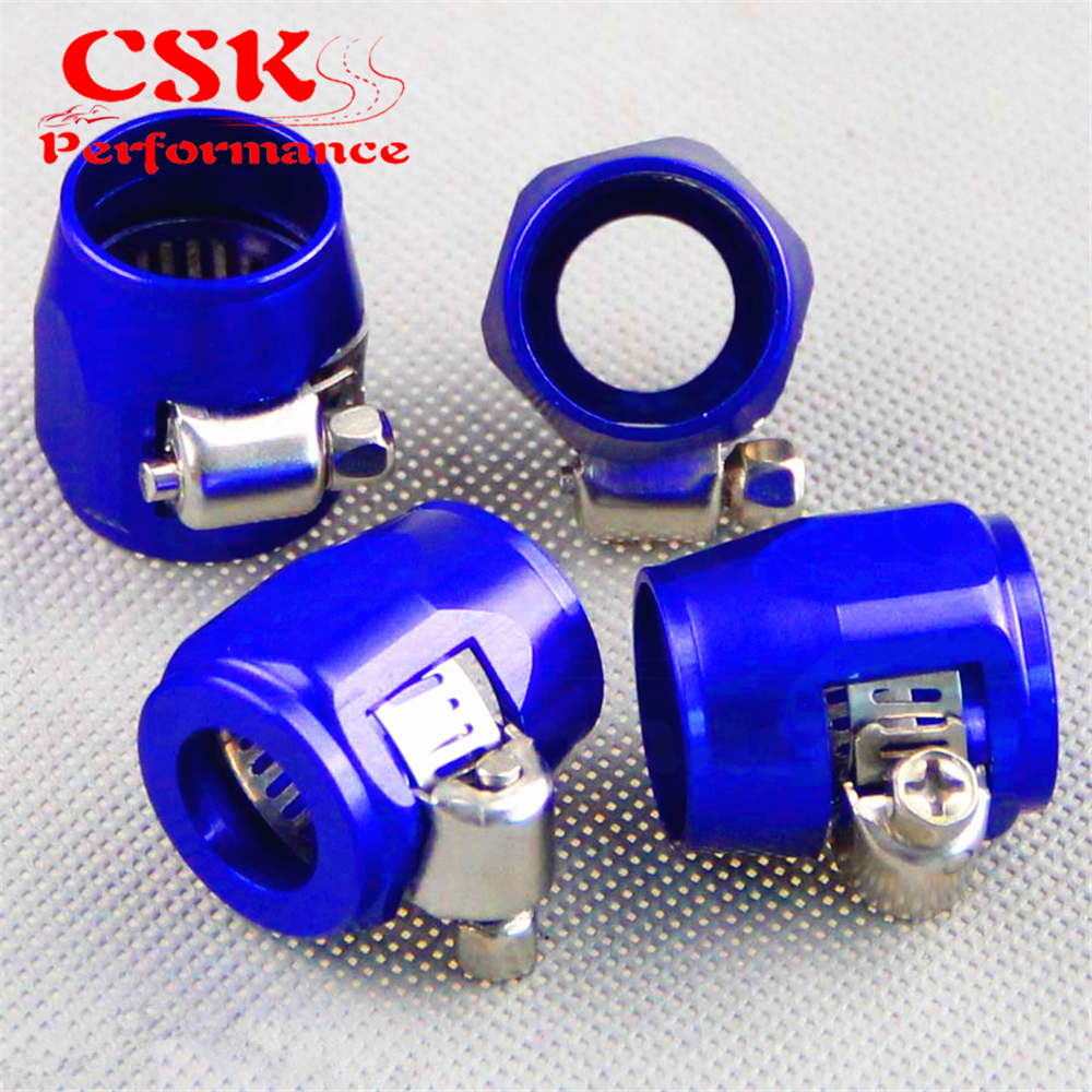 Fuel//Oil//Radiator AN8 Alloy//Aluminium Hose Finisher silver 17mm ID Clamp//Clip