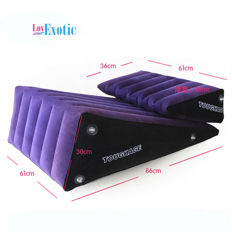 Ship via DHL TOUGHAGE PF3203 Inflatable Sofa Bed Sex Cushion Sex Chair Set Adult Sex Furniture