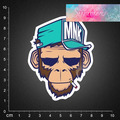 Free shipping 2016 new style  PVC sticker waterproof UV proof ,monkey 24 BLINGIRD