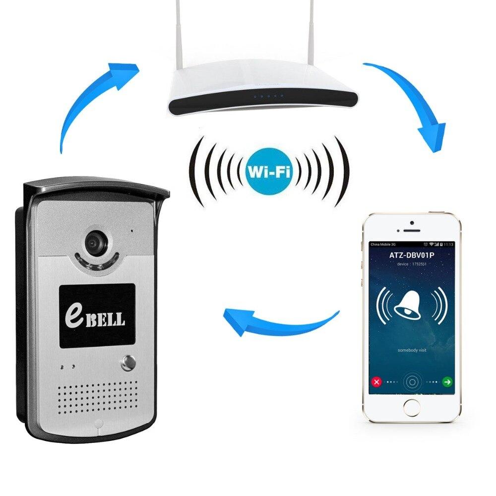 Metal Case APP Remote Control WIFI Video Door Phone Wireless IP Doorbell app remote control 720p wifi video door phone