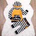 Crianças Da Criança Do Bebê Da Menina do Menino Roupas Set Tops Hoodies Moletom Com Capuz Calças 2 pcs Roupas Set Outfits Meninos Novos