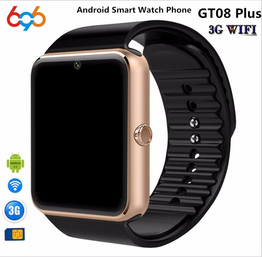 EnohpLX Bluetooth Android Smart Watch GT08 Plus Support Camera Nano 3G SIM card WIFI GPS Google Map Google Play Store Wristwatch