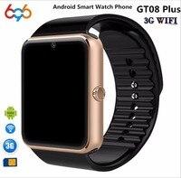 EnohpLX Bluetooth Android Smart Watch GT08 Plus Support Camera Nano 3G SIM card WIFI GPS Google Map Google Play Store Wristwatch