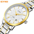 EYKI Luxury Watch Men's Quartz Watch Calendar Clock Waterproof Stainless Steel Men Business Watches Relogio Masculino
