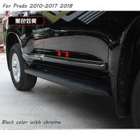 Door Side Moulding body moulding Cover Trim article scratch resistant For Toyota Land Cruiser Prado FJ150 2010 2017 2018