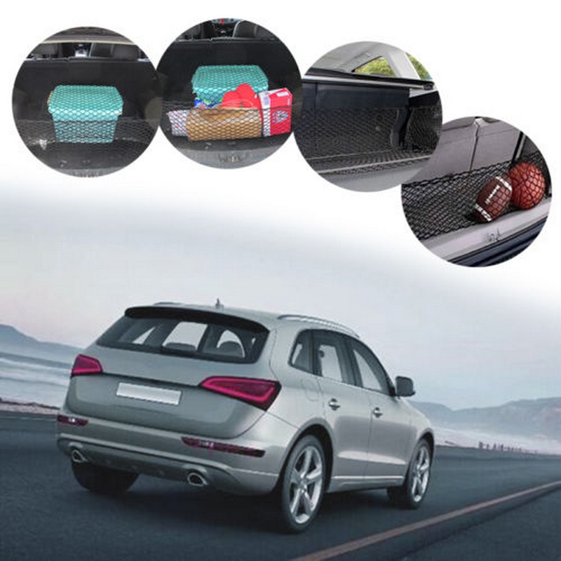 Image 4 - 1 Pcs 90*40 Dual layer Vertical Shielding Net Suitcase SUV double storage bag flexibility reliable solid Protected Rear Door-in Stowing Tidying from Automobiles & Motorcycles