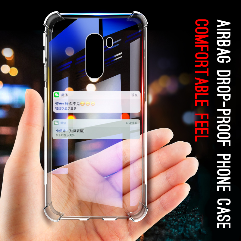 Cool Shockproof Clear Soft Case For Xiaomi Mi 8 9 A2 Lite A1 Mix 3 2S Max 3 Play Mi6 6X 5X Pocophone F1 Mi8 SE Silicone Cover