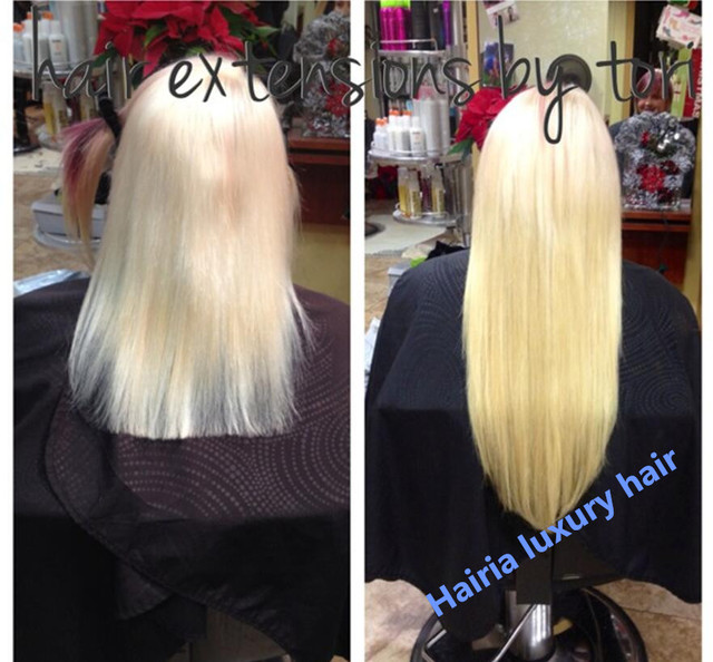 Over The Shoulder Length Blonde Brazilian Virgin Straight Hair Micro