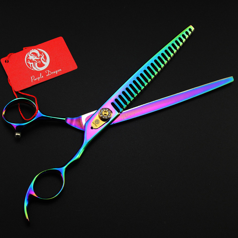 8.0 Inch Japan 440C Professional Pet Scissors Set With Case Bag Dog Cat Tesoura Pet Scissors Grooming Cutting Shears Kit