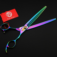 8.0 Inch Japan 440C Professional Pet Scissors Set With Case Bag Dog Cat Tesoura Pet Scissors Grooming Cutting Shears Kit