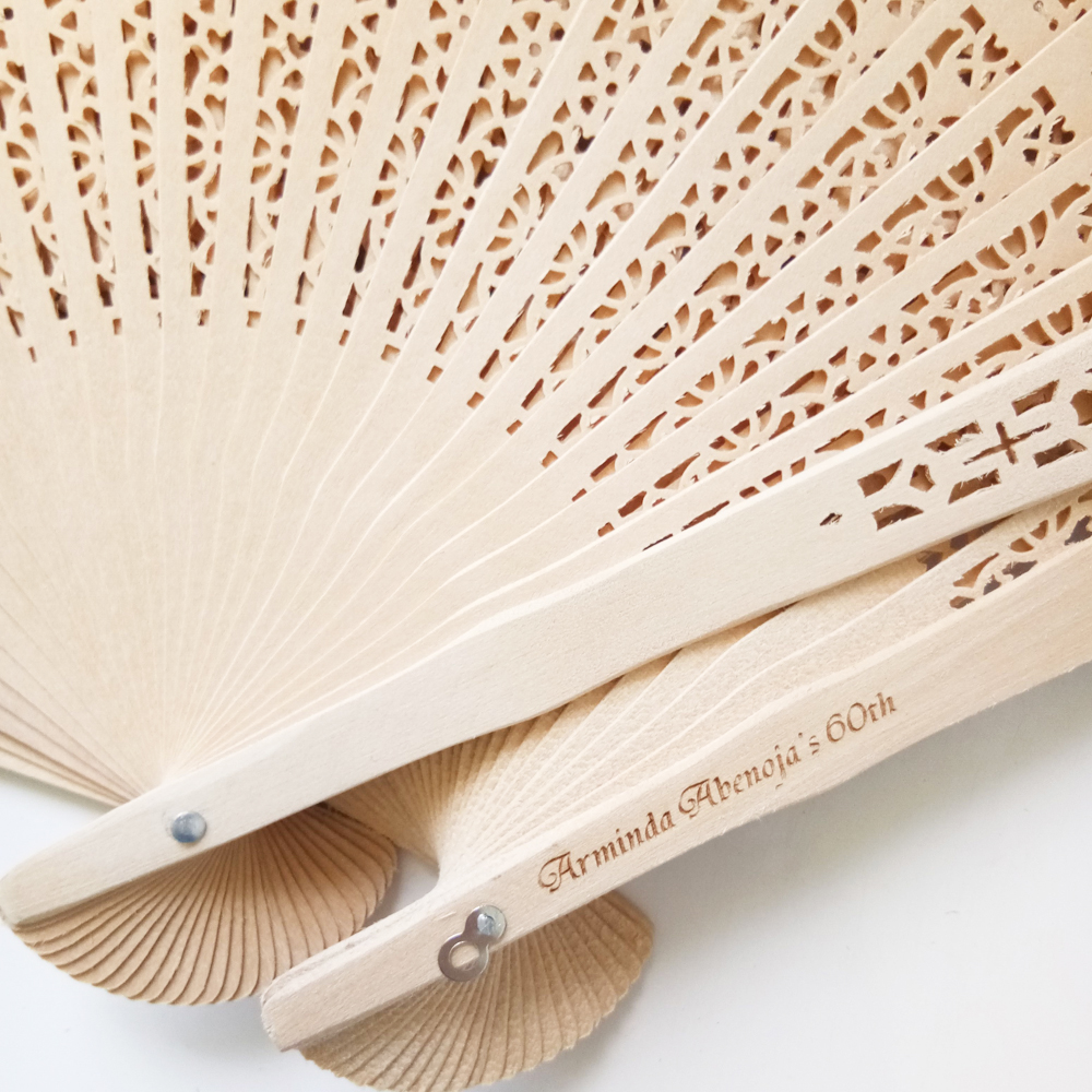 100Pcs Chinese Wooden Hand Fan Favor Personalized Wedding Fan ...