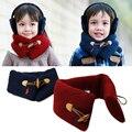 Осень зима дети шарф дети мода ребенка шеи wrap, чистый цвет маленький мальчик и маленькая девочка шарфы толстый платок, echarpes, AfW