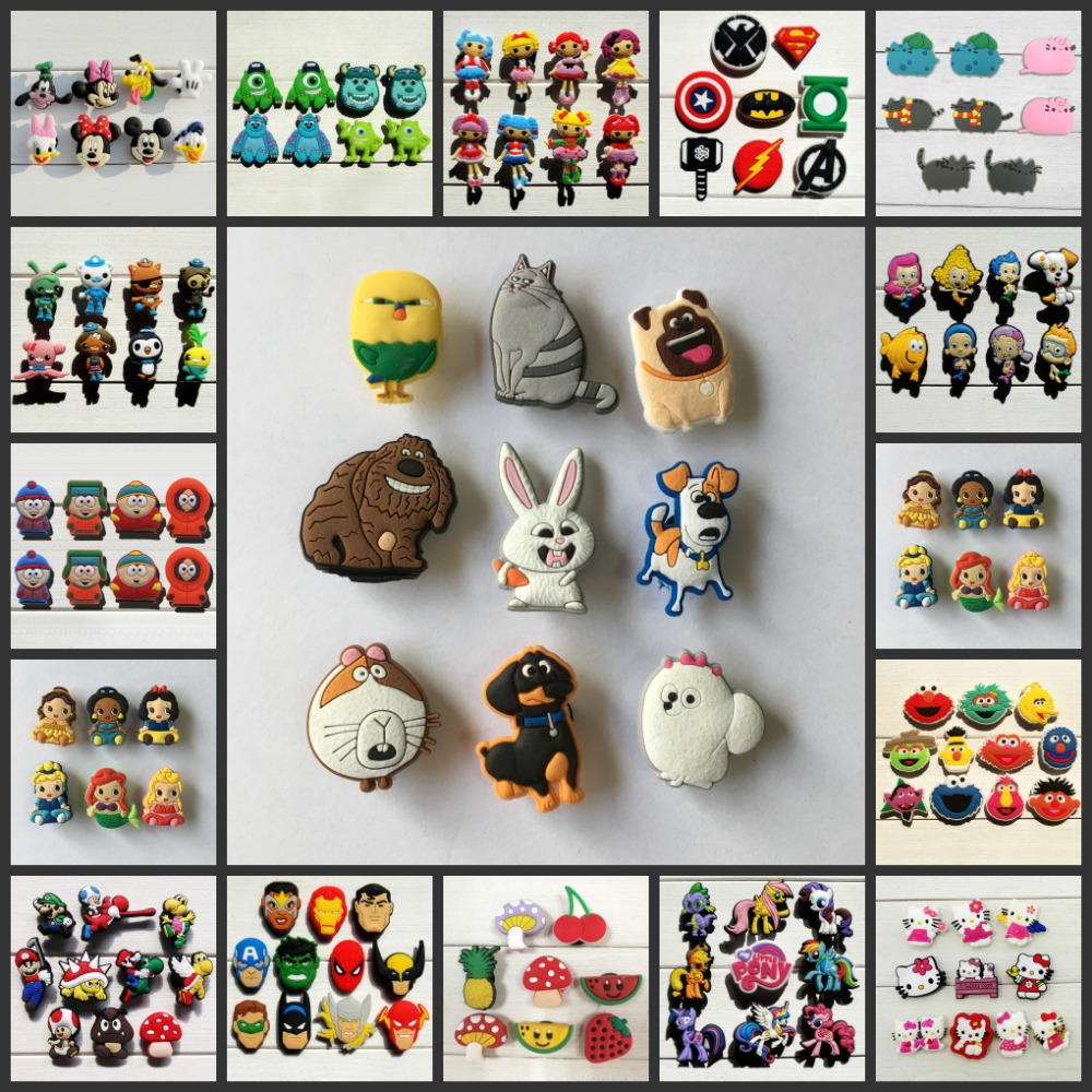 Mix Model 100PCS Moana Troolls Sesame Street Cartoon PVC Shoe Charms,Shoe Accessories Decoration for Wristbands,Fit croc jibz подвесная люстра favourite 1938 6p