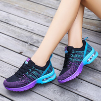 2017 The New Autumn Flying Woven Breathable Shock Absorber Woman Shoes Casual Light Travel Shoes