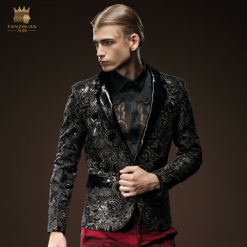 fanzhuan Free Shipping men's male fashion 2015 winter conventional collar suit single breasted blazer long sleeved coat 510039