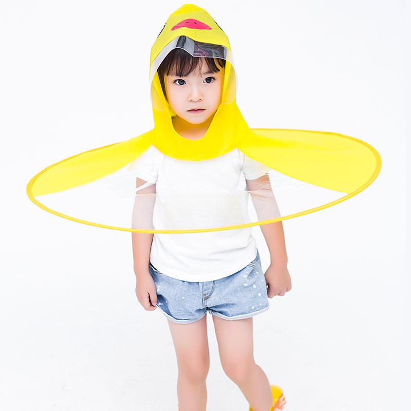 Ufo Children Umbrellas Cute Yellow Duck Rain Cover