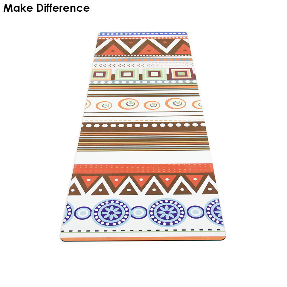 Make Difference New Printed Outdoor Yoga Pilates Mat Natural Rubber Non-slip Gymnastics Exercise Hot Yoga Mat 183cm*61cm*3.5mm gymnastics mat thick four folding panel fitness exercise 2 4mx1 2mx3cm