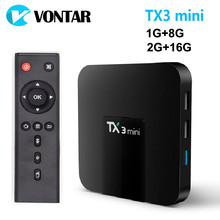 VONTAR TX3 mini Smart TV BOX Android 8.1 2GB 16GB Amlogic S905W Quad Core Set top box H.265 4K WiFi Media player TX3mini 1GB 8GB(China)
