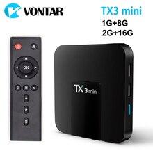 VONTAR TX3 มินิสมาร์ททีวีกล่อง Android 7.1 2GB 16GB Amlogic S905W Quad Core Set Top Box H.265 4K WiFi Media Player TX3mini 1GB 8GB