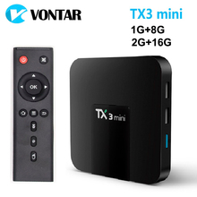VONTAR TX3 mini Smart TV BOX Android 7.1 2GB 16GB Amlogic S905W Quad Core Set top box H.265 4K WiFi Media player TX3mini 1GB 8GB