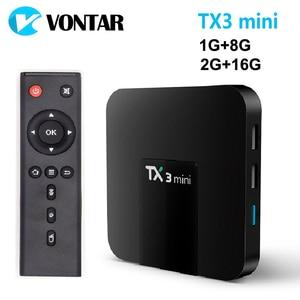 Image 1 - VONTAR TX3 mini Smart TV BOX Android 7.1 2GB 16GB Amlogic S905W boîtier décodeur Quad Core H.265 4K WiFi lecteur multimédia TX3mini 1GB 8GB