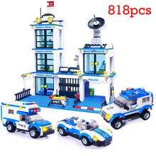 Городской полицейский участок 818 шт. SWAT строительные блоки Совместимые LegoING Мальчики друзья Кирпичи Детские игрушечные фигурки для детей и взрослых