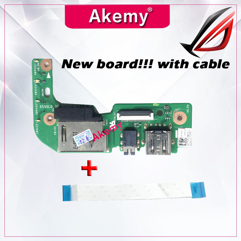 Original With Cable For ASUS X555 X555L X555LD X555LD_IO USB AUDIO CARD READER BOARD REV:2.0 MB 100% Tested Fast Ship
