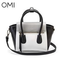 OMI frauen handtaschen frauen tasche Weibliche handtasche damen taschen Damen echtes leder handtasche Weiblichen designer tasche Casual Tote