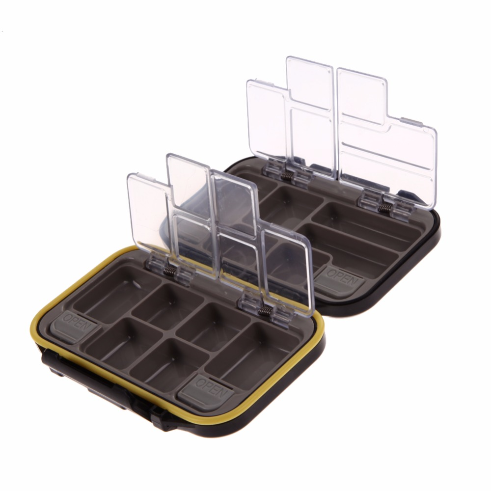 12 Compartments Waterproof Fishing Tackle Storage Box Eco-Friendly Plastic Fishing Lure Bait Tackle Durable Fish Pocket box BAG trulinoya multi purpose fishing bag 24 15 cm fish lock lure box accessories box style fishing bag set fishing tackle best
