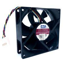 Ventilador de refrigeração 80mm 12v Nova DS08025R12U 8025 8CM 0.70A 64cfm PWM Cooler 80*80*25mm