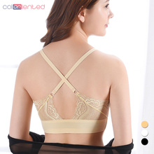 Coloriented 2018 New Autumn Winter Fashion Lace Beauty Back No Trace Underwear Removable Coaster Temperament Womens Bras RX235