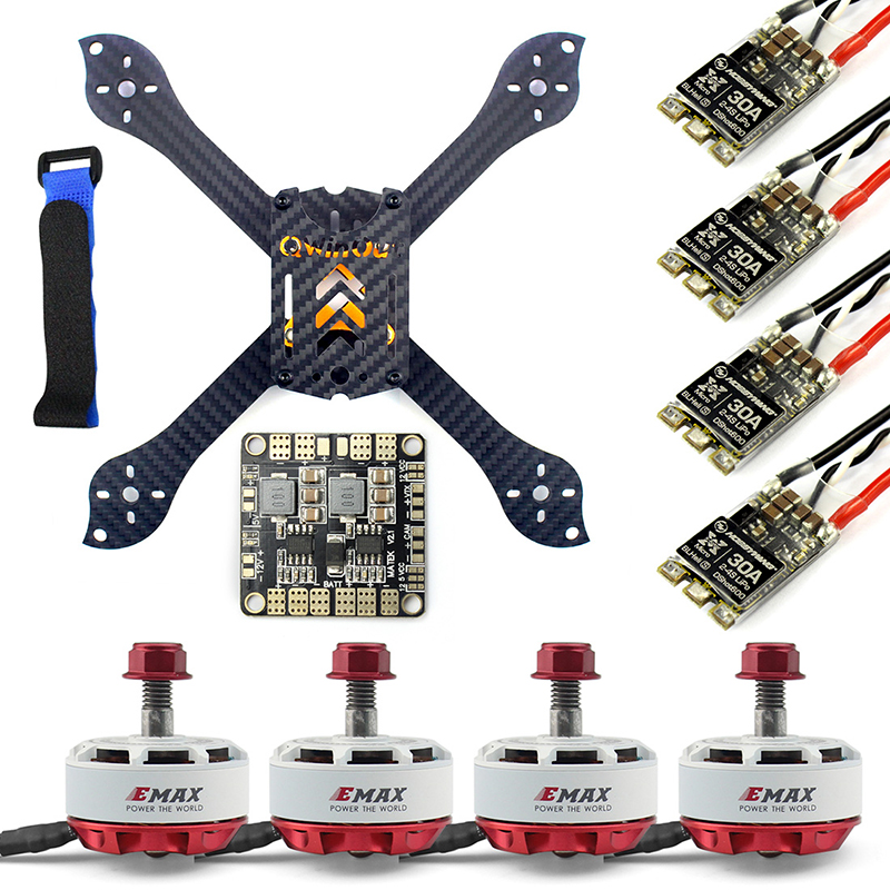 210mm X Shape Frame RS2306 Brushless Motor 30A ESC with PDB 5V BEC For FPV RC Drone Quadcopter Multicopter Airplane diy fpv mini drone qav210 zmr210 race quadcopter full carbon frame kit naze32 emax 2204ii kv2300 motor bl12a esc run with 4s