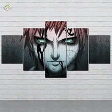 Naruto Anime Wall Art HD Prints Canvas Painting Modular Picture And Poster Decoration Home Artwork 5 PIECES