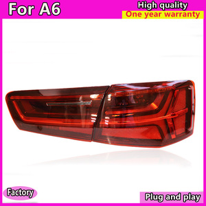 Image 3 - car styling For Audi A6 taillights 2012 2016 for A6 rear lights LED DRL + dynamic turn +brake+Rever+Rear fog taillight assembly