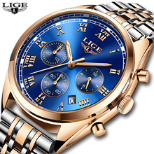цена на Mens Watches LIGE Top Brand Luxury Men Wristwatch Quartz Watch Men's Fashion Business Watches Relogio Masculino relojes hombre