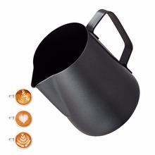 Do spieniania mleka spieniacz dzban-nieprzywierająca powłoka Latte Art ekspres do kawy Espresso Cappuccino-stali nierdzewnej ze stali nierdzewnej 18 8 ze stali nierdzewnej tanie tanio STAINLESS STEEL Leeseph