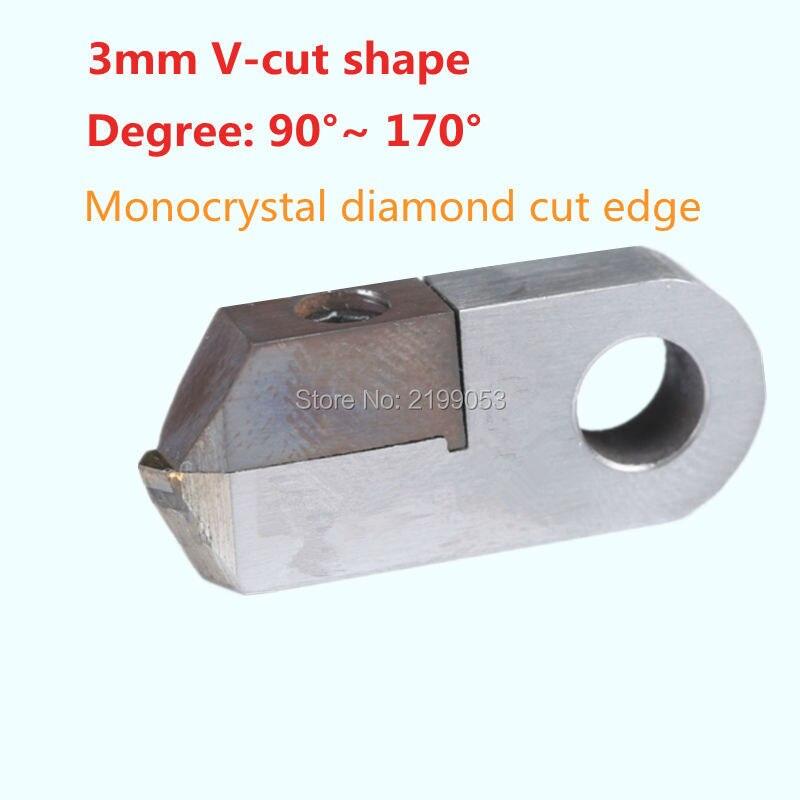 Outils diamant Posalux coupe V 80 degrés. ~ 170 Deg. 3mm largeur monocristallin pointe bijoutiers orfèvres outil pour Machine de facettage