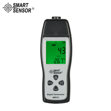 цена на SMART SENSOR Digital Tachometer rpm meter mini 100RPM-30000RPM Photo Motor Speed Meter Laser Non-Contact  + 3pcs Reflective Tape