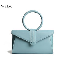 Witfox ladies hand bags silk genuine leather Panelled Alligator pattern vintage style hot sell bag for women Niche design(China)