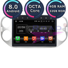 Roadlover Android 8.0 Car Multimedia Radio Player For Volkswagen VW Tiguan 2013 2014 2015 Stereo Automagnitol Double Din NO DVD