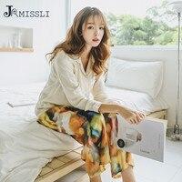 JRMISLI Brand Women Silk Autumn Sleepwear 2 Piece Sets Silk Vintage Pajama Women Pijama Lady Pajamas Sets