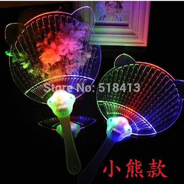 2018 New Plastic Practical Jokes Children's Colorful Flash Butterfly Toy Bear Glowing Fan Night Market Novelty & Gag Toys